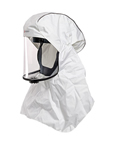 loose fiting PAPR hood for powered air purifying respirators