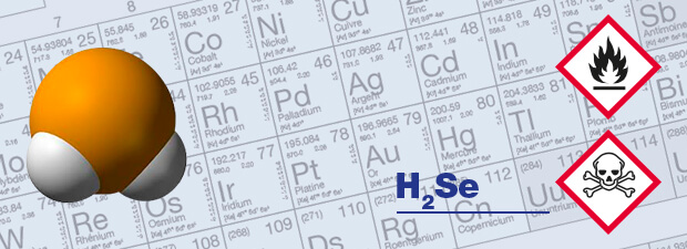 h2Se gas detector and respiratory protection hydrogen selenium, Selenium hydride