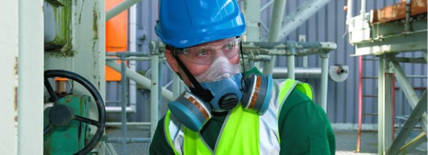dual filter gas masks as air purifying respirators