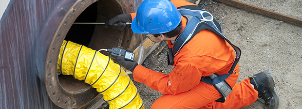 confined space air monitor & safety solutions: portable 4 gas detectors and self rescuer masks