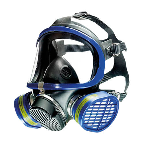 X-plore 5500 gas mask by Drager: dual filter respirator