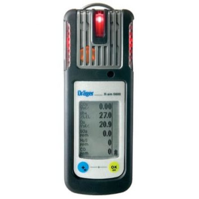 Drager x am 5600 multi gas meter with electrochemical and infrared gas sensors
