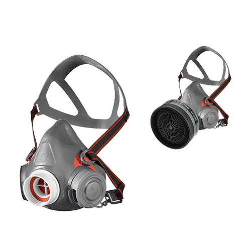 Half mask respirator: Aviva 40 gas mask with RD DIN40 universal filter