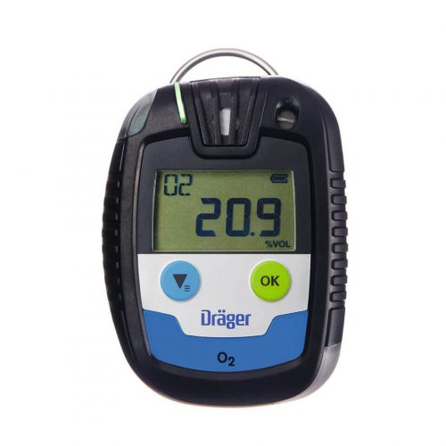 Portable single-gas detector Pac 6500 by Drager for CO, H2S, SO2 and O2 monitoring