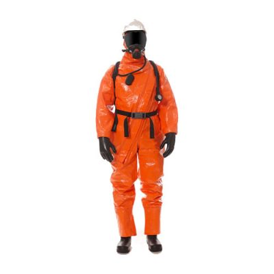 Hazmat suit CPS 5800 by Dräger, limited use chemical protective coverall