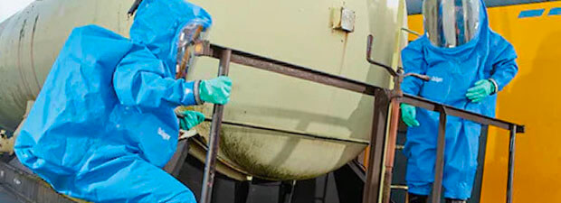 Hazmat suit for chemical biohazard and particles protection