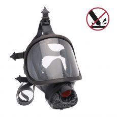 TR82_EPDM gas mask with an anti-solvent and anti-scratch polycarbonate lens.